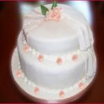 Torta De Boda Baño Wilton